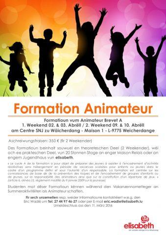 Affiche Animateur A